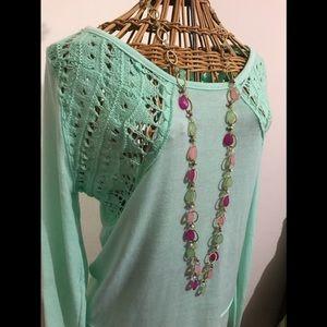 Mint crocheted tunic